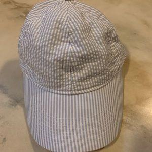 J Crew Seersucker Hat